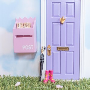 miniature fairy umbrella and wellington boots UK
