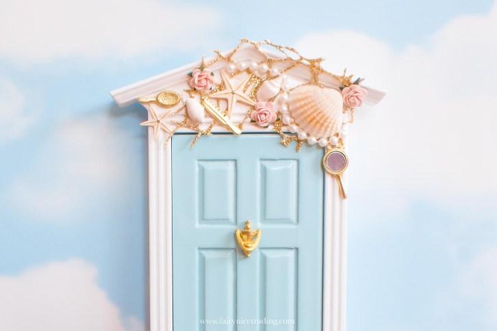 exquisite detail on this Mermaid door UK