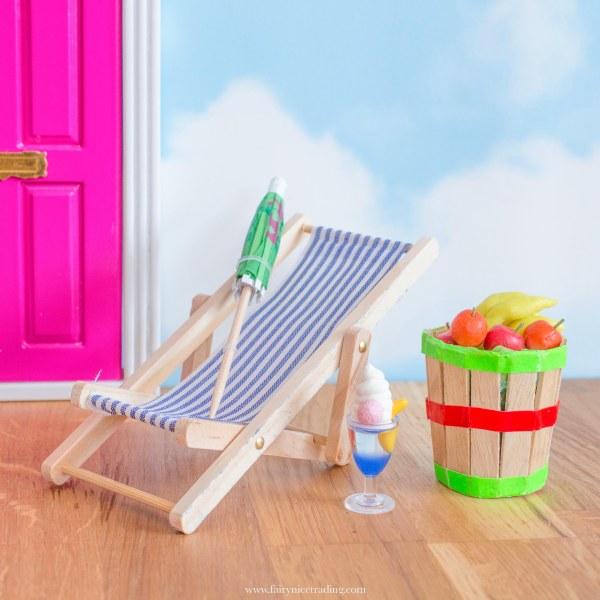 tropical fairy door accessory set
