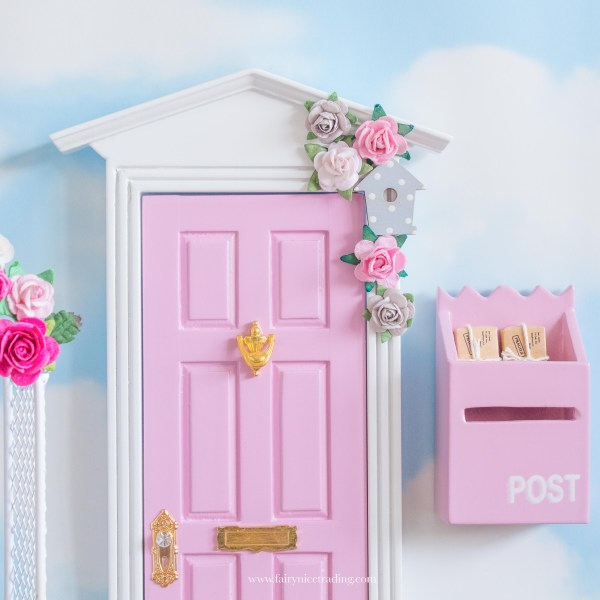 pink and grey fairy door uk