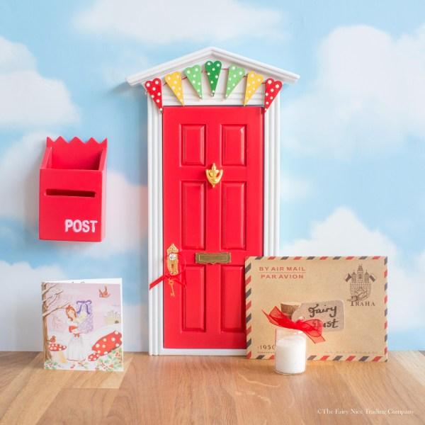 red christmas fairy door uk