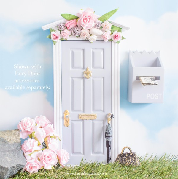 grey Fairy Door with flower wall