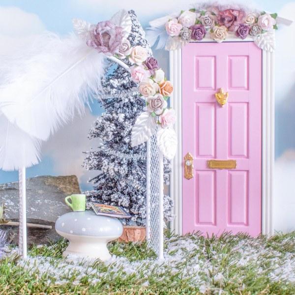 snow for fairy doors
