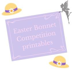 easter bonnet competition printables