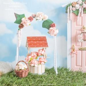 blush fairy garden flower arch