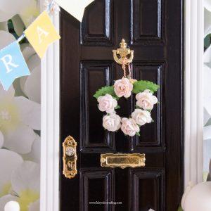 Miniature blush flower wreath