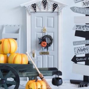 miniature halloween flower wreath for fairy doors