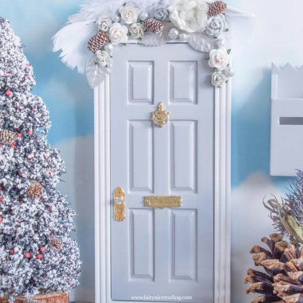 grey christmas fairy door