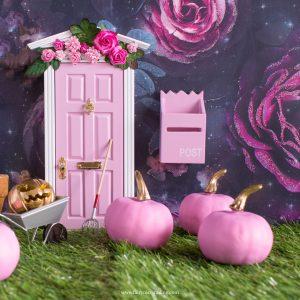 large pink pumpkin for Fairy doors