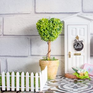 miniature picket fence