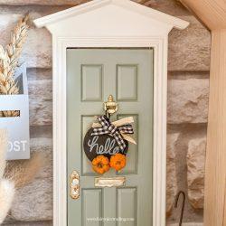 Autumn Fairy Door sign