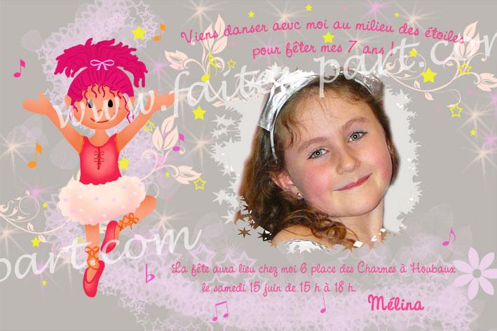 carte invitation anniversaire theme