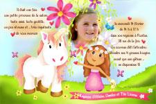 invitation anniversaire cheval 6
