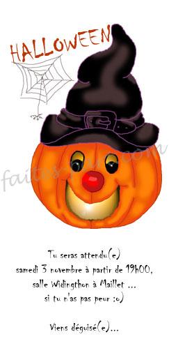 invitation d halloween a fabriquer soi