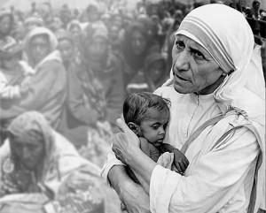 Mother Teresa B&W