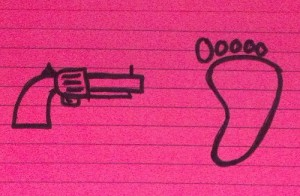gun foot