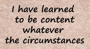 Read more about the article Contentment