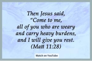 Read more about the article God offers you rest!