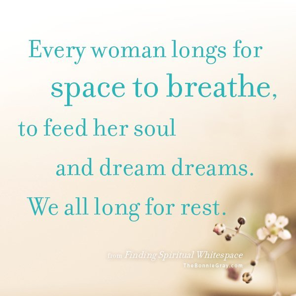 Finding Spiritual Whitespace by Bonnie Gray at http://www.faithbarista.com