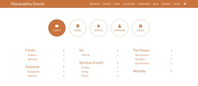 Topic Page for Sermons