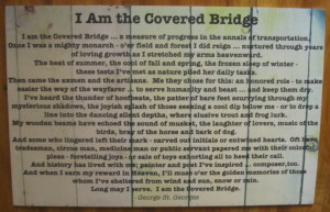 I am the covered bridge