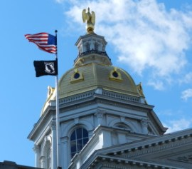 dome on NH state house, concord