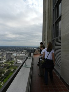 observation deck at 27th floor of LA state capitol
