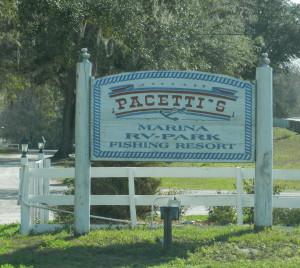 pacetti's marina rv park, st augustine, FL