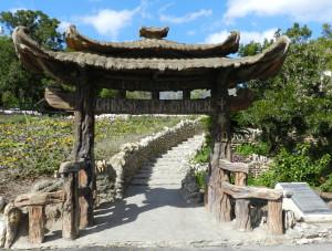 entrance to japanese tea garden in san antonio