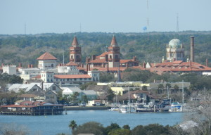 view of flagler college and church from lighthouse