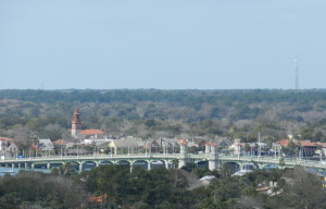 view of lion bridge from lighthouse