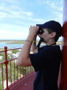 taking a close-up view of st augustine from lighthouse