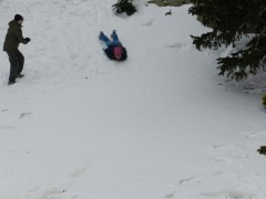 playing in the snow in CO