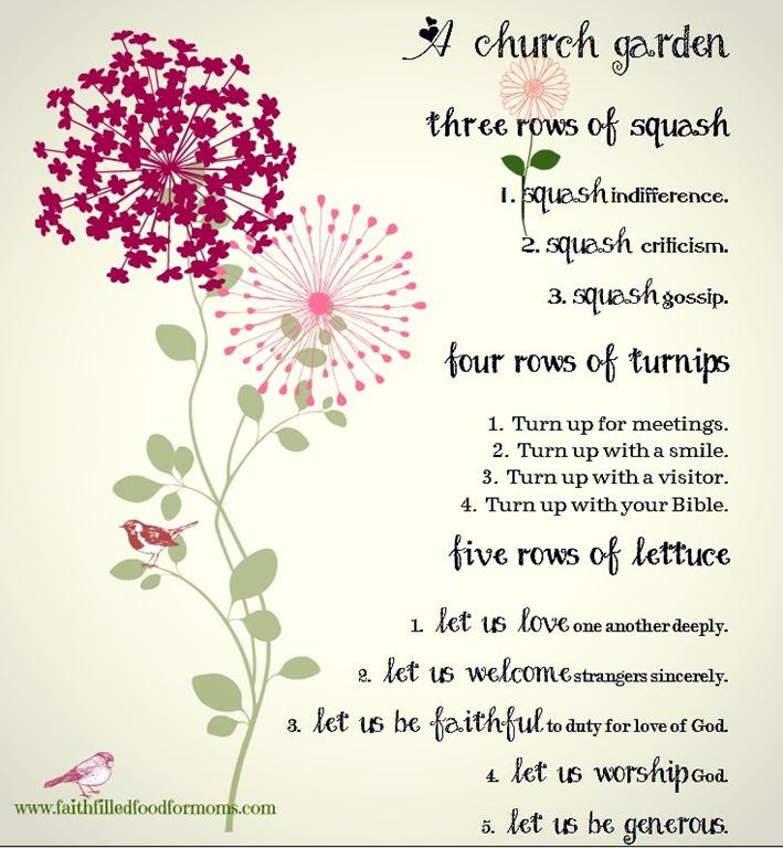 A Church GardenFree Printable Faith Filled Food For Moms