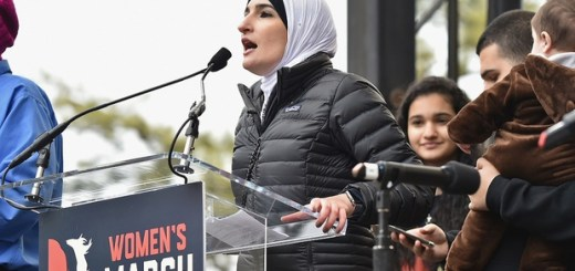 WASHINGTON, DC - JANUARY 21: Linda Sarsour speaks onstage during the Women's March on Washington on January 21, 2017 in Washington, DC.   Theo Wargo/Getty Images/AFP