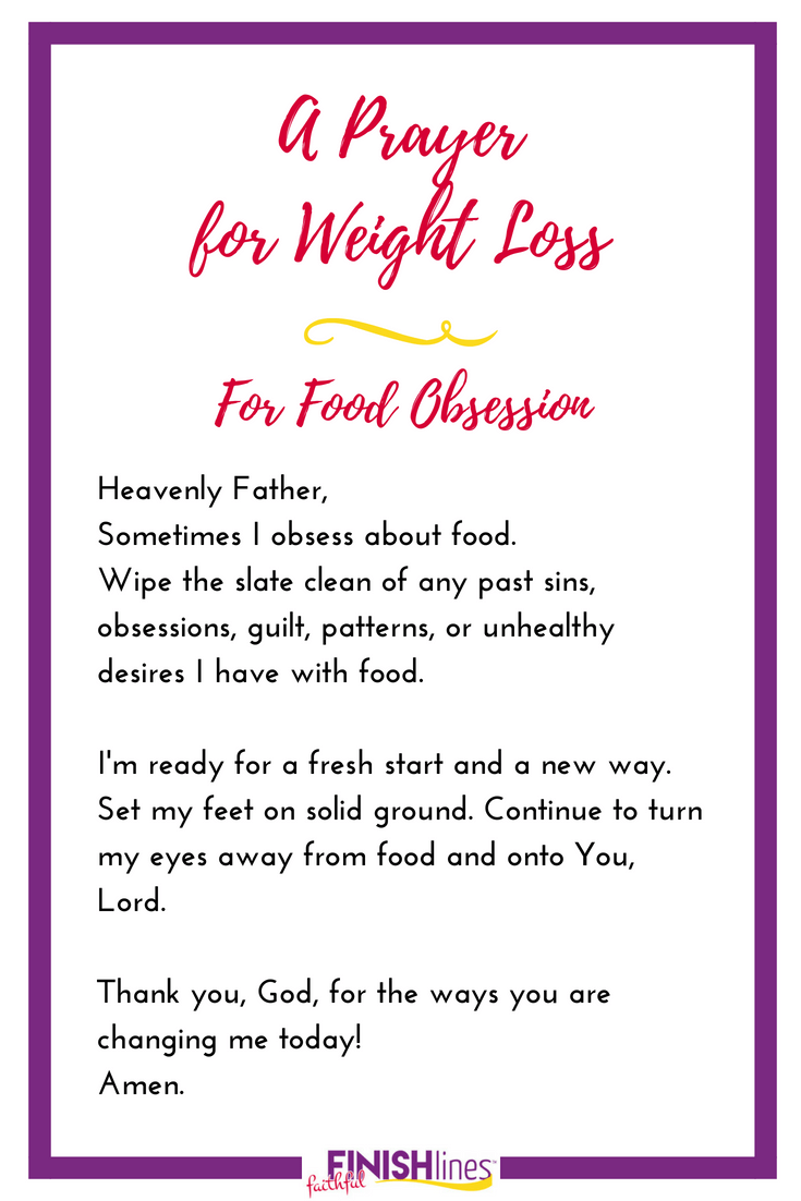 A Weight Loss Prayer for Food Obsession