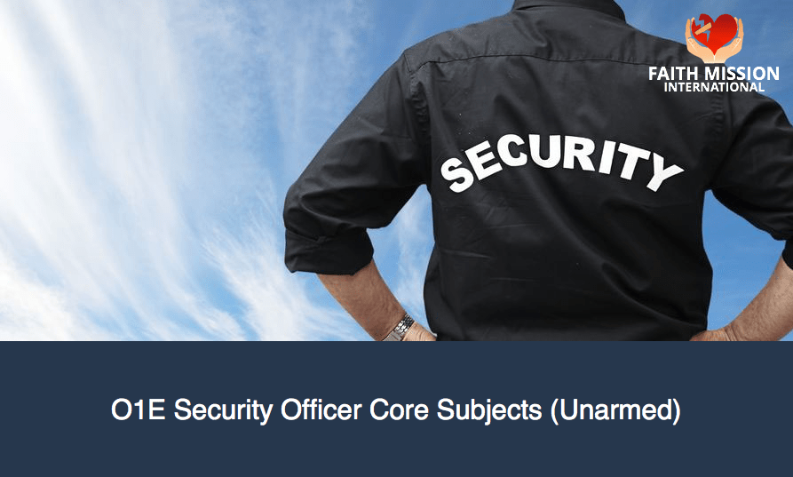 O1E-Security-Officer-Core-Subjects-Unarmed
