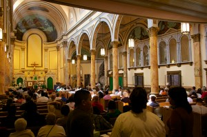 The 10 AM Sunday Mass at Mary Help of Christians Church was a subdued affair