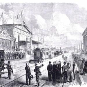 The Papal Train at Porta Maggiore in 1862.