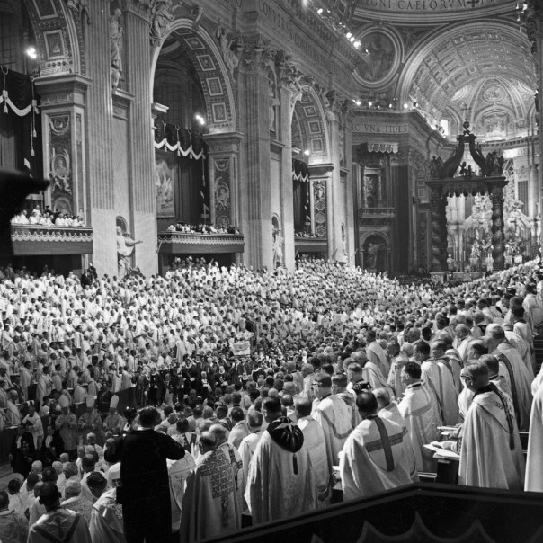 As he passed the ranks of bishops they removed their headpieces and applauded and Holy Father. He had set out the course of the council. He had given a speech for the ages.
