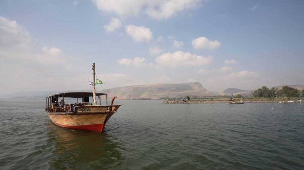 It was a relief to take to the water: the Sea of Galilee.