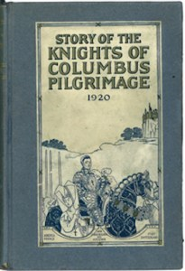 A book-length account of the pilgrimage published in 1921 depicts a knight wearing a crusaders cross traveling through a barren land. Honoring the war dead was an important aspect of this pilgrimage.