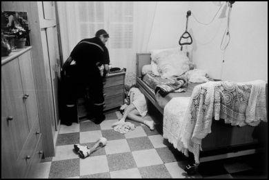 Corse Ajaccio Aout 2004, assistance à personne chute de son lit médicalisé 18H05