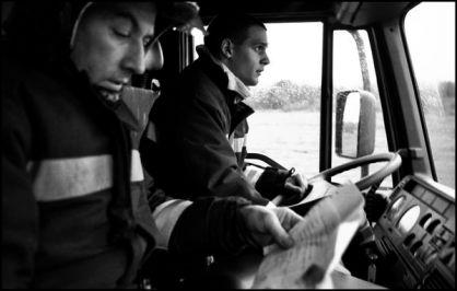 Le:11/11/2003 à 10 H32 Départ pour fuite de gaz dans le centre ville d'Angoulême