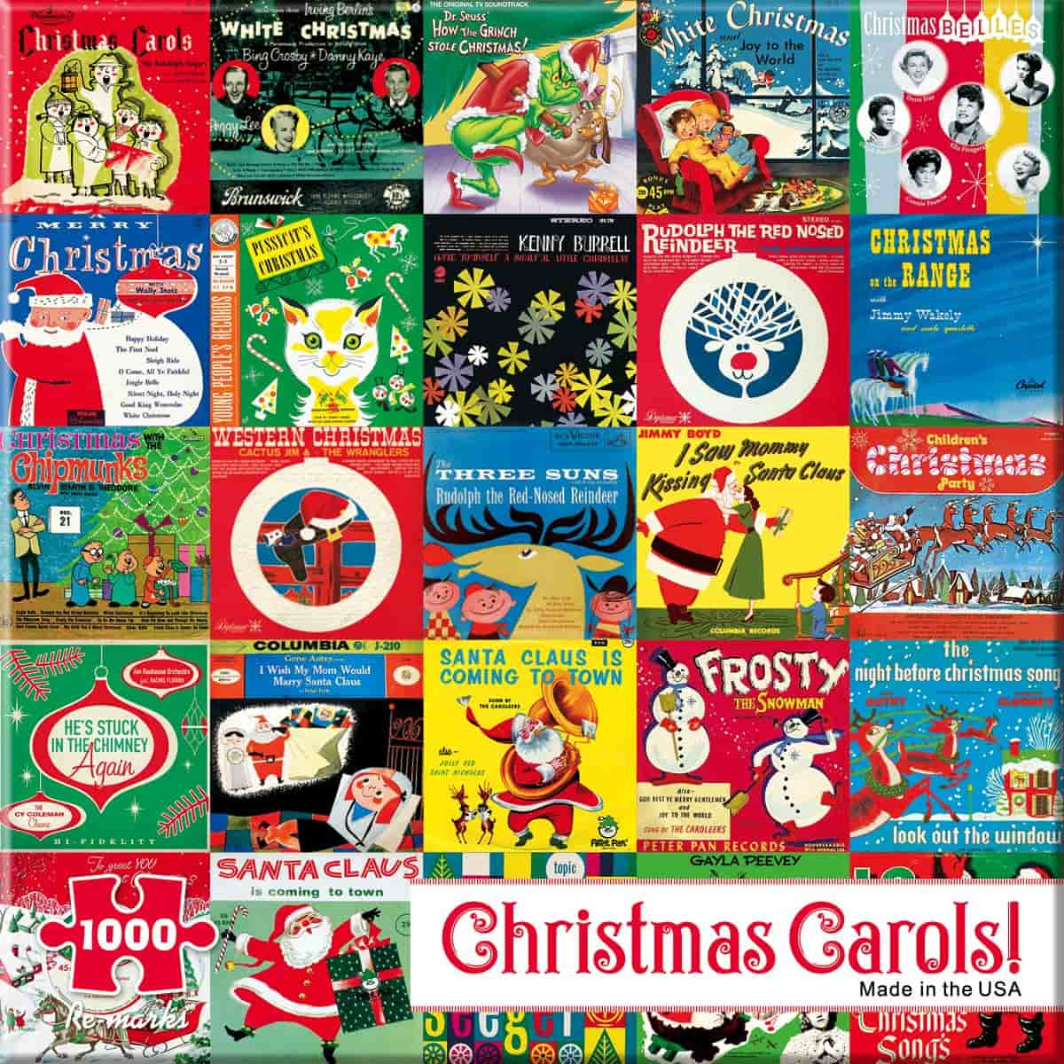 Christmas Record Covers Jigsaw Puzzle