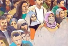 Photo of فنان فلسطيني يحول صورا فوتوغرافية إلى مظاهرات على اللوحة