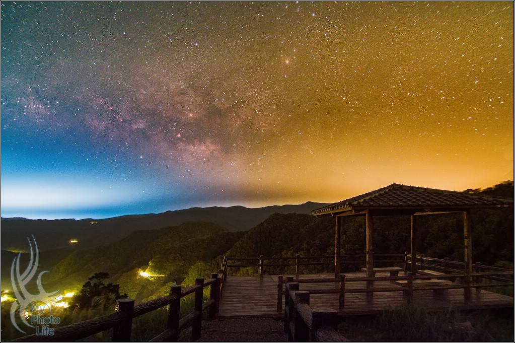 20180313坪林茶園銀河&星空調色盤(STC內置光害濾鏡使用)