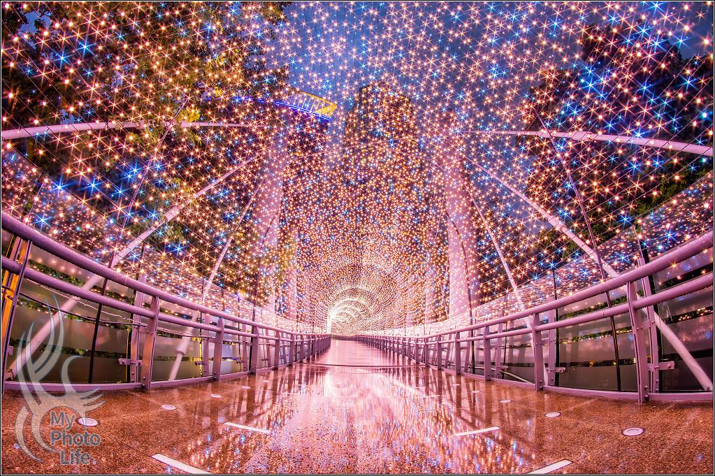 20181023新北市歡樂耶誕城.金澄星橋.夜&影