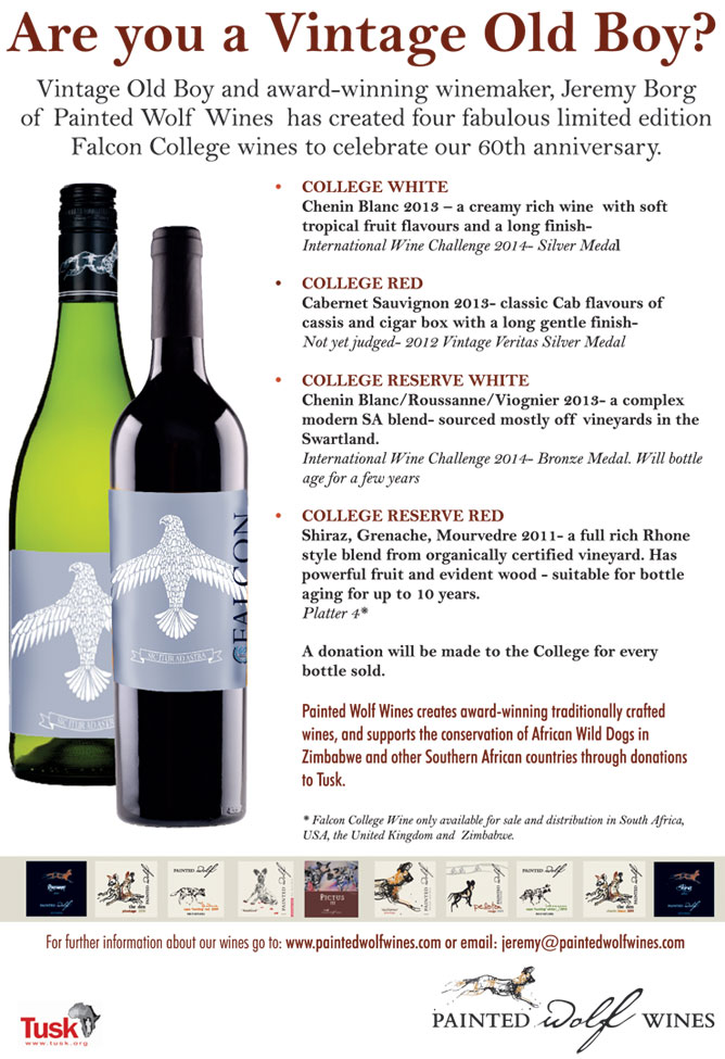 Advert for 60th Anniversary College Wines