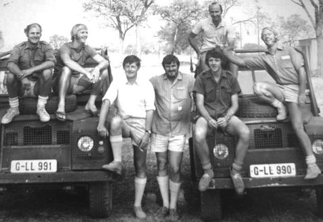 David James, with a group of Special Branch colleagues, taken in either 1975 or 1976